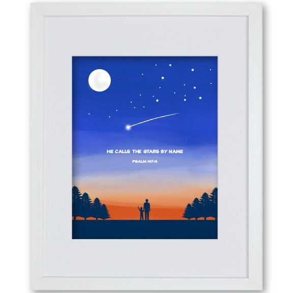 Grandson Gift Framed Artwork - Nightsky