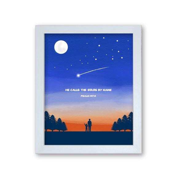 Godson Gift Framed Print - Stars