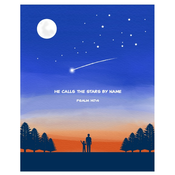 Kids Christian Wall Art - Boys - Psalm 147