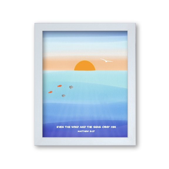 Grandson Gift Framed Artwork - Ocean