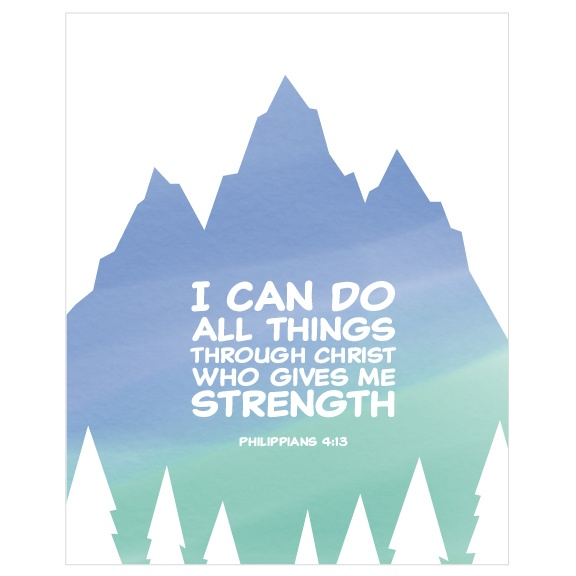 Kids Christian Wall Art for Boys - Philippians 4