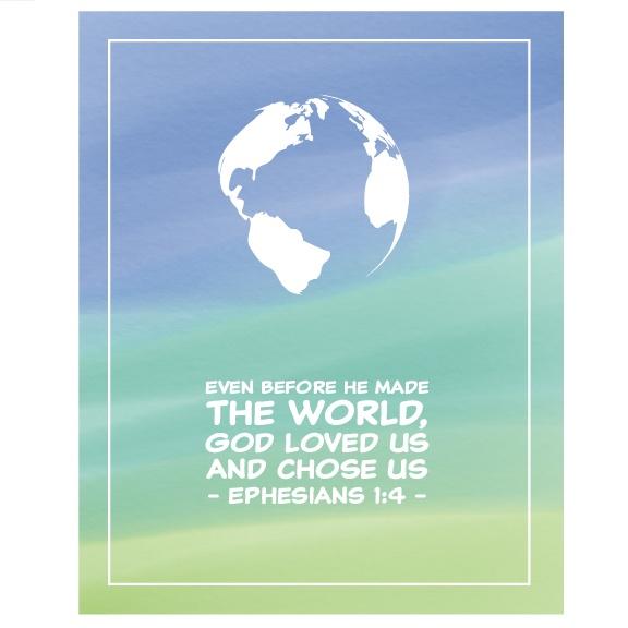 Kids Christian Wall Art Boys - World Ephesians
