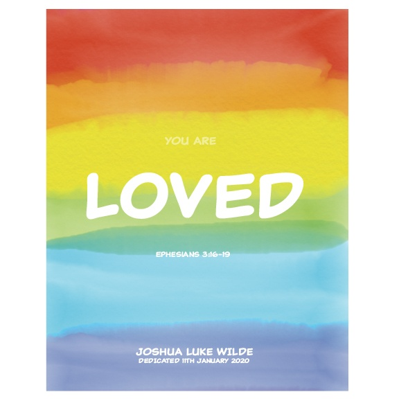 Godson Gift Personalised Print Rainbow