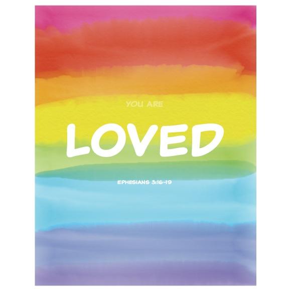 Kids Christian Wall Art Girls Rainbow