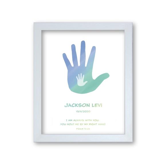 Baptism Gift Boy - Hands Artwork